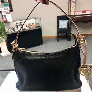 Michael Kors Black Leather Hobo Shoulder Bag